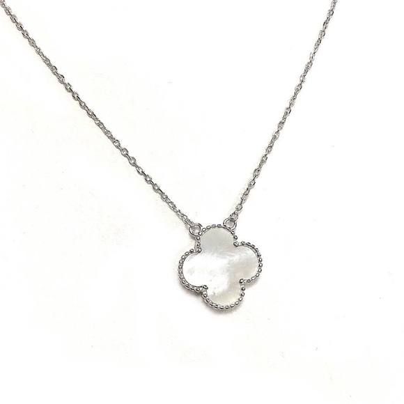 ac399bd46a628 925 Sterling Silver White Mother Of Pearl Necklace NWT